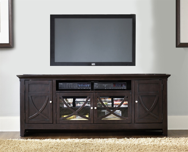 Piedmont 75 Inch Tv Stand In Dark Mocha Finish By Liberty