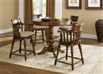 Crystal Lakes Round Pub Table 3 Piece Dining Set in Toffee Finish by Liberty Furniture - 97-PUB4242