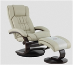 Oslo Euro 2 Piece Swivel Recliner in Beige Breathable Air Leather with Black Alpine Finish by MAC Motion Chairs 51-97-625