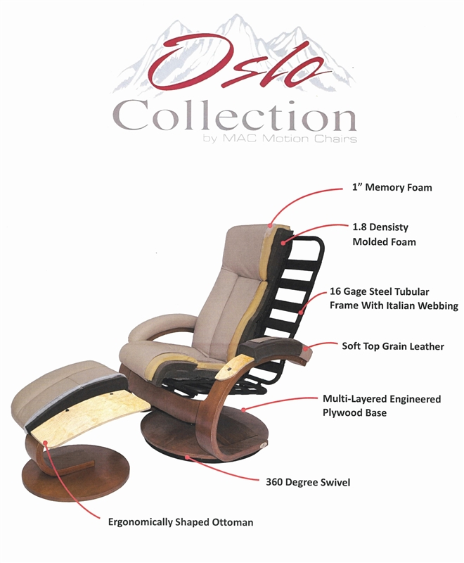 Oslo Splendor Shiatsu 2 Piece Swivel Recliner Cobblestone Leather by MAC Motion Chairs 5400-C  sc 1 st  Home Cinema Center : motion chairs recliner - islam-shia.org