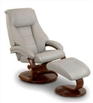 Oslo Mandal 2 Piece Swivel Recliner Putty Leather / Alpine Finish by MAC Motion Chairs 58-P