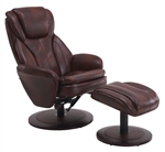 Norway Euro 2 Piece Swivel Recliner Comfort Chair in Whisky Breathable Air Leather with Alpine Finish by MAC Motion Chairs NORWAY-809-620-200