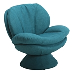 Swivel Leisure Comfort Chair in Blue Rio Turquoise Fabric by MAC Motion Chairs PUB-150-UPH