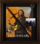 Braveheart Mel Gibson Autographed Home Theater Display