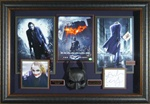 The Dark Knight Cast Signed Home Theater Display with Heath Ledger
