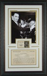 "Frank Sinatra's ""Egg Plant Parmesan"" Framed Display"
