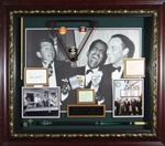 The Rat Pack Autographed Vintage Home Theater Display