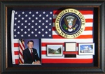 President Ronald Reagan Autographed Display