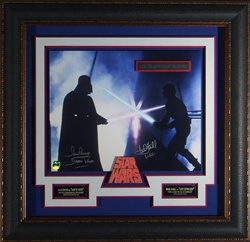 """The Duel"" Luke Skywalker vs. Darth Vader Signed Star Wars Display"