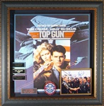 Top Gun Cast Autographed Home Theater Display