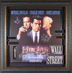 Wall Street Cast Autographed Home Theater Display