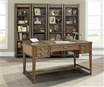 Aberdeen 5 Piece Home Office Set in Antique Vintage Stone Finish by Parker House - ABE-SET