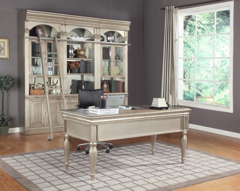 allure 4 piece bar unit in champagne finishparker house - all