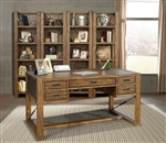 Allister 5 Piece Home Office Set in Cognac Finish by Parker House - ALL-SET