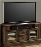 Aria 60 Inch TV Console in Antique Vintage Smoked Pecan Finish by Parker House - ARI-412