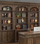 Aria 4 Piece Desk Library Wall in Antique Vintage Smoked Pecan Finish by Parker House - ARI-460-2-04