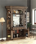 Aria 4 Piece Bar Unit in Antique Vintage Smoked Pecan Finish by Parker House - ARI-465-2-2