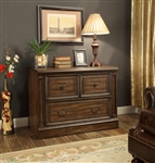 Aria 2 Drawer Lateral File in Antique Vintage Smoked Pecan Finish by Parker House - ARI-476F