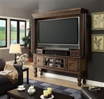Aria 73 Inch 2 Piece Entertainment Armoire in Antique Vintage Smoked Pecan Finish by Parker House - ARI-6000-2