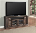 Aria 67-Inch TV Console in Antique Vintage Smoked Pecan Finish by Parker House - ARI-605