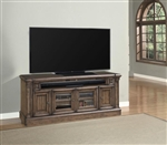 Aria 79-Inch TV Console in Antique Vintage Smoked Pecan Finish by Parker House - ARI-615
