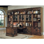 Barcelona 10-Piece Home Office Suite in Dark Red Walnut Finish by Parker House - BAR-550-10