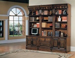 Barcelona 6-Piece Home Office Suite in Dark Red Walnut Finish by Parker House - BAR-550-6