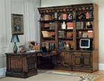 Barcelona 8-Piece Home Office Suite in Dark Red Walnut Finish by Parker House - BAR-550-8