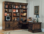 Barcelona 8-Piece Home Office Suite in Dark Red Walnut Finish by Parker House - BAR-550-8S