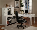 Boca 4 Piece Home Office Set in Cottage White Finish by Parker House - BOC-347C-4