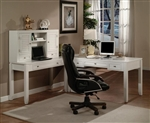 Boca 4 Piece Home Office Set in Cottage White Finish by Parker House - BOC-357D-4