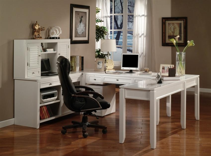 Boca 57 Inch Writing Desk In Cottage White Finish By