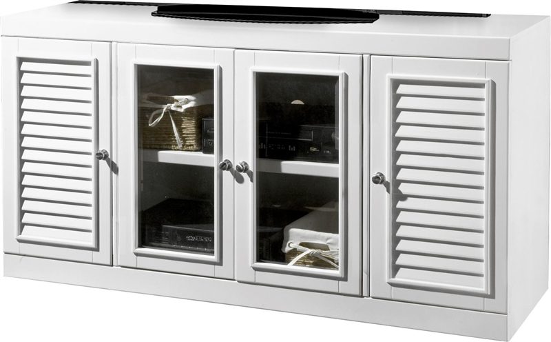Parker House Modular Home Office Set Boca Ph Boc Mset: Boca 56 Inch TV Console In Cottage White Finish By Parker