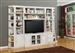 Boca 6 Piece TV Library Wall in Cottage White Finish by Parker House - BOC-411-6