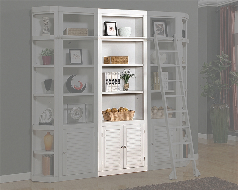 Parker House Modular Home Office Set Boca Ph Boc Mset: Boca 32 Inch Open Top Bookcase In Cottage White Finish By