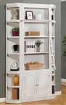 Boca 3 Piece Bookcase in Cottage White Finish by Parker House - BOC-430-3