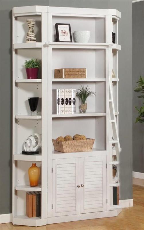 Parker House Modular Home Office Set Boca Ph Boc Mset: Boca 3 Piece Bookcase In Cottage White Finish By Parker