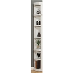 Boca Outside Corner Bookcase in Cottage White Finish by Parker House - BOC-450