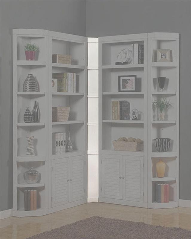 Parker House Modular Home Office Set Boca Ph Boc Mset: Boca Inside Filler Corner In Cottage White Finish By
