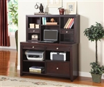 Boston 47-Inch Credenza & Hutch in Merlot Finish by Parker House - BOS-347CH