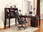 Boston 4 Piece Home Office Set in Merlot Finish by Parker House - BOS-357D-4