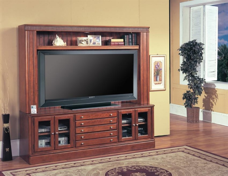 charthouse 65 inch tv entertainment center in honey brown finish by parker house cha815 ec. Black Bedroom Furniture Sets. Home Design Ideas
