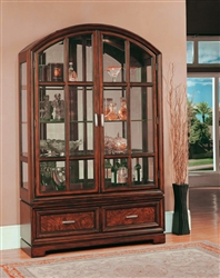 Grand Manor Alicante Collector's Cabinet in Sterling Finish by Parker House - GALI-8000-2