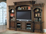 Genoa 60-Inch TV 5Pc Wall System in Antique Vintage Dark Pecan Finish by Parker House - GEN-600-5WS