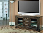 Genoa 64-Inch TV Console in Antique Vintage Dark Pecan Finish by Parker House - GEN-605