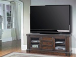 Genoa 77-Inch TV Console in Antique Vintage Dark Pecan Finish by Parker House - GEN-615