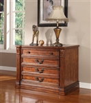 Grand Manor Granada Lateral File in Antique Vintage Walnut Finish by Parker House - GGRA-9075