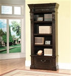 Grand Manor Palazzo Museum Bookcase in Vintage Burnished Black Finish by Parker House - GPAL-9030