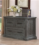Gramercy Park Lateral File in Vintage Burnished Smoke Finish by Parker House - GRAM-9075