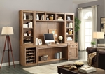 Hickory Creek 6 Piece Home Office Wall in Vintage Honey Finish by Parker House - HIC-6-SET2